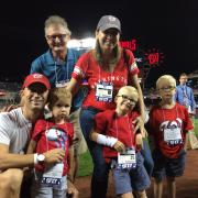 Caleb and Family at the Nationals Game