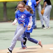 Kid running the bases